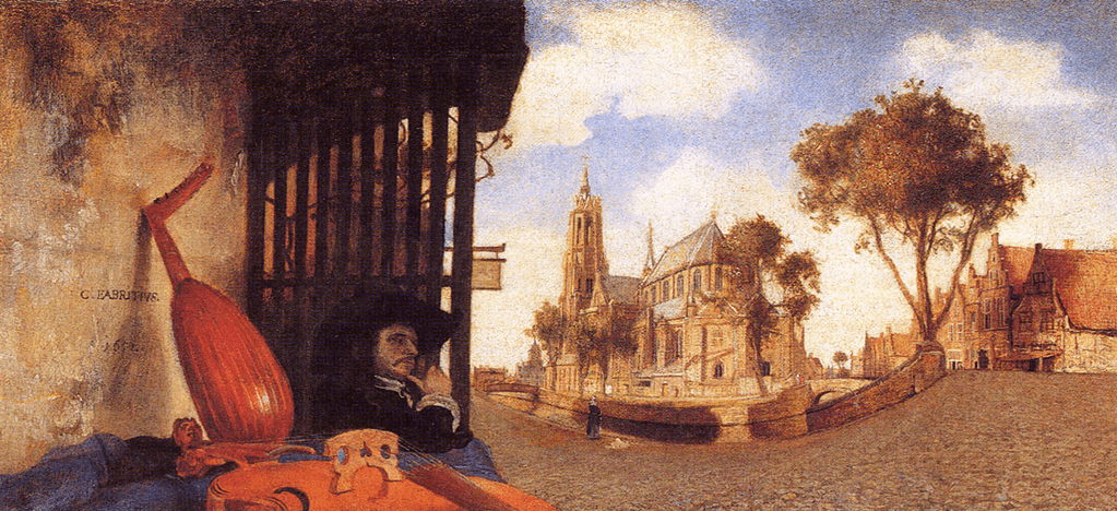 Carel Fabritius – Ansicht des Oude Langedijk