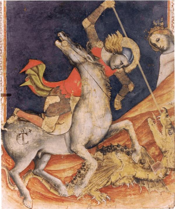 Vitale da Bologna – Der hl. Georg tötet den Drachen