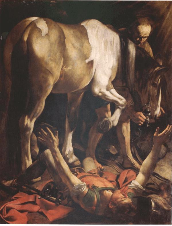 Caravaggio – Bekehrung des Paulus