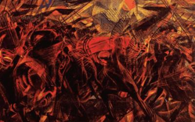 Carlo Carra – Begräbnis des Anarchisten Galli