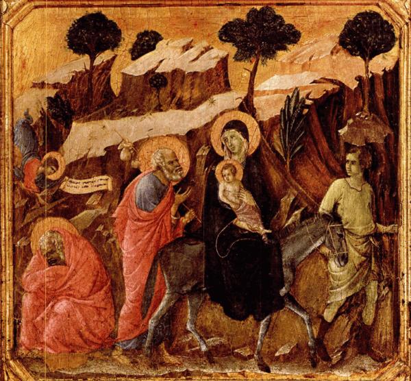 Duccio di Buoninsegna – Flucht nach Ägypten