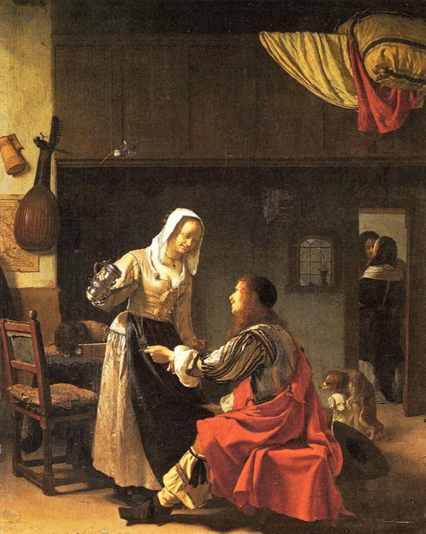 Frans van Mieris – Soldat und Mädchen