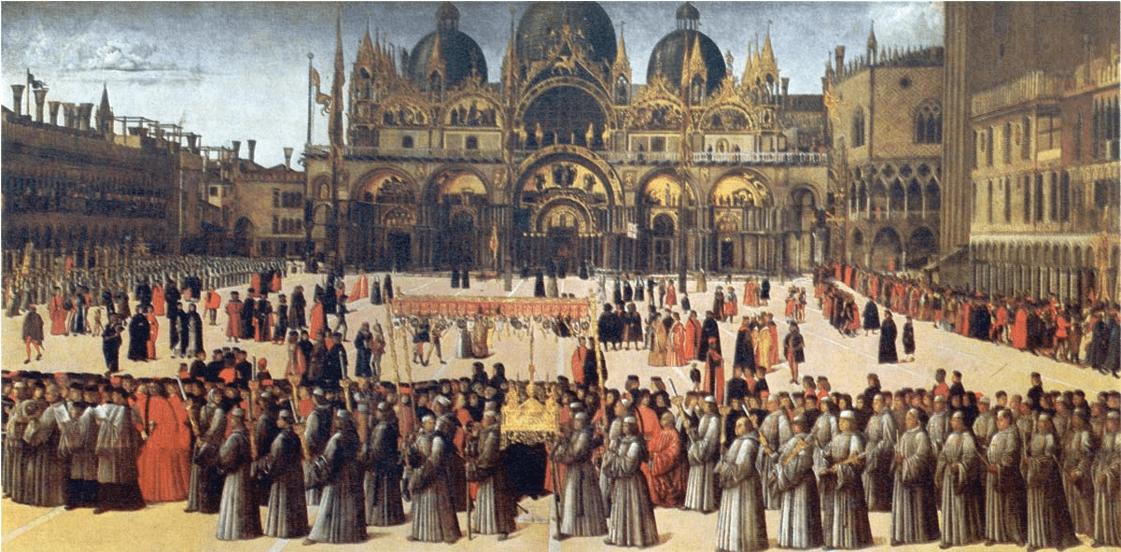 Gentile Bellini – Prozession auf der Piazza S. Marco