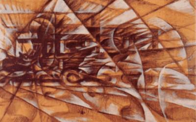 Giacomo Balla – Geschwindigkeit eines Autos