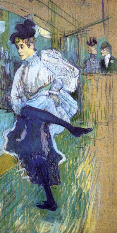 Henri de Toulouse-Lautrec, Jane Avril beim Tanzen