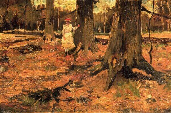 Vincent van Gogh – Junges Mädchen in einem Gehölz